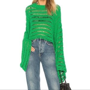 Free People Caught Up Crochet Top S